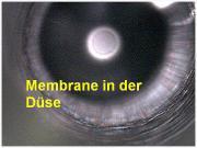 Membrane in der Düse